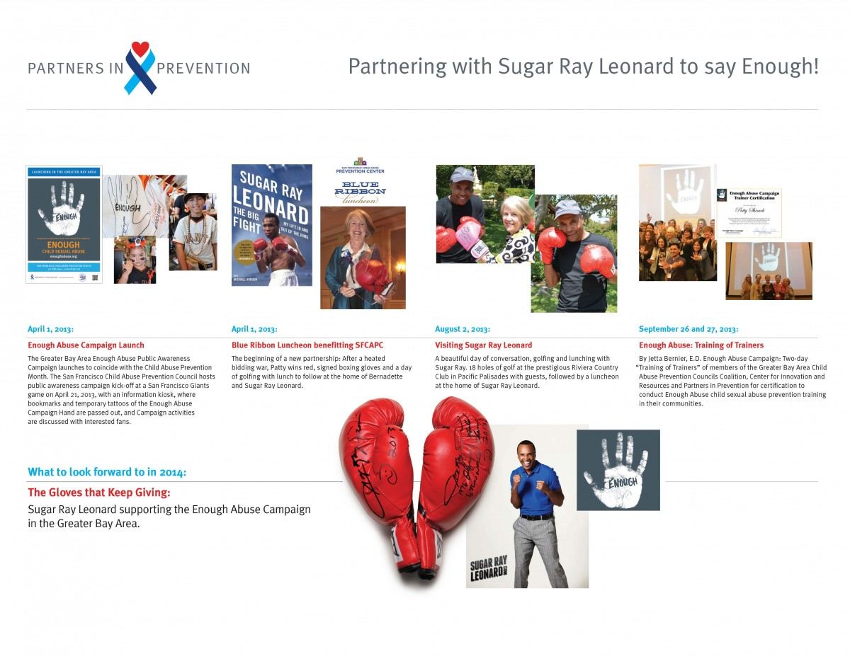 Partnering with sugar ray leonard to say enough sugar ray leonard enough campaign 1betcityfo Image collections
