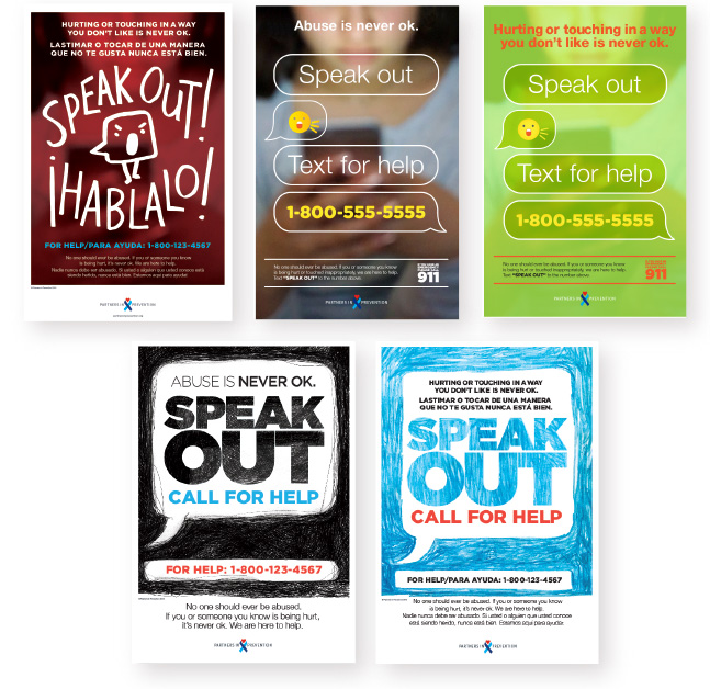 Partners in Prevention Posters.