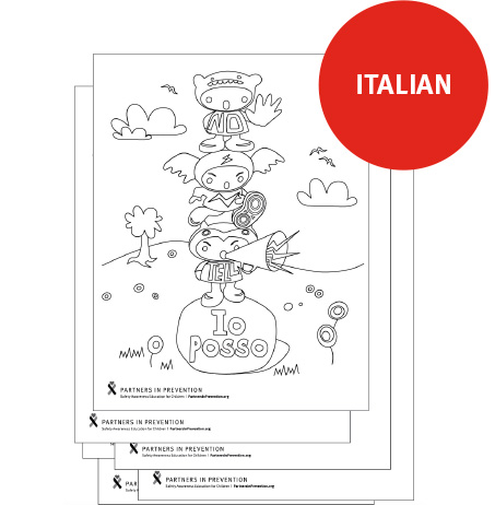 Coloring Pages - Italian