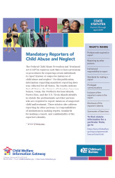 Mandatory Reporters of Child Abuse and Neglect