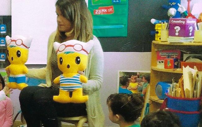PiP dolls with Teacher